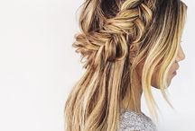Hair / Hair tips and tricks and also ideas for pretty hairstyles