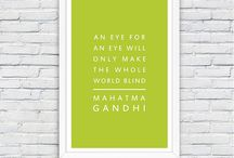 Beautiful framed quotes.