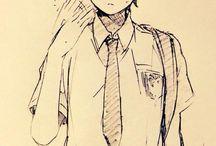 manga scetch boys