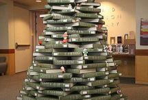 Kerstboekenboom / books christmastree