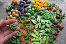 çeşit çeşit sebzeler