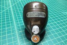 Vintage bullet microphones