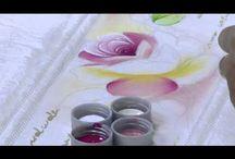 pintura a oleo de rosas