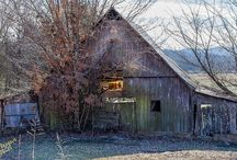 Old Barns, Houses and Shed / Collection of old barns, derelict houses and other country structures