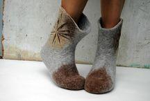Keçe ayakkabılarım