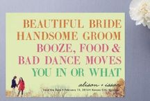 Wedding and Event Typography Inspiration