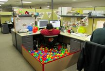 Wacky Workplace Decorations / Why shouldn't cubicles be decked out to express personality? And furthermore, why shouldn't co-workers play crazy pranks on unsuspecting office victims? / by Quality Logo Products