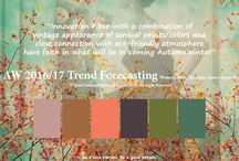 AW 16/17 / Youthful ideas and colors for surface patters, designs, and illustrations trending for Autumn and Winter of 2016/17.