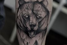 tatto grizzly bear