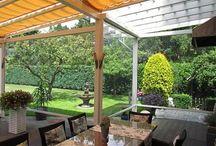 Wetterschutzrollo / Seitenmarkise / Wetterschutzrollo,  Windschutz und Sichtschutz, damit Sie Ihre Terrasse / Ihren Balkon zum Urlaubsparadies machen können. Relaxen im eigenen Garten Baldachin Pergolamarkise Pergola Markise Markiese