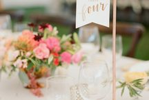 Table signs wedding/events
