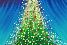 Christmas canvas