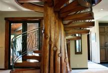 Home and living / Beautiful wood stairs❤