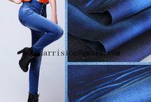 pure cotton elastic denim fabrics / supplier