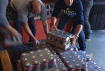 Bongiovi Brand - Sandy relief  / Jon Bon Jovi lends a hand unloading some Bongiovi Brand pasta sauce to feed the masses at the JBJ Soul Kitchen in Red Bank, NJ after Hurricane Sandy.
