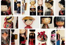 Hmong / A Hopp Ferenc Múzeum dél-kelet ázsiai kiállítására készített vietnámi ihletésű babák, ruhák és kiegészítők