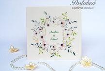 Virágos esküvői meghívók