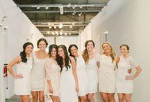 Modern wedding: bridesmaids