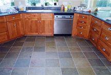 slate floor w/ counters