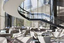 Crown Metropol MELBOURNE / Crown Metropol MELBOURNE. Bucket chairs in the Lobby and Reception area of the 5 stars luxuriuos australian Hotel.