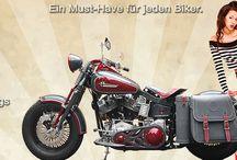 CORII Cutom Leather / Motorrad Leder Solotaschen, Satteltaschen, Werkzeugrollen, Tankpads, Rahmentaschen, Packtaschenhalter, Haltersysteme wie Quick Release
