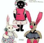 Cloth Doll Pattern - Bunnies