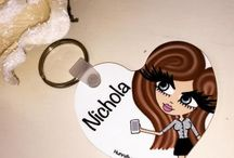 ♡ Personalised Key Rings or Key Holders / Personalise your keyring/keyholder using the HunniBunni Builder where you can choose between the outfits, hair styles, hair colours, eye colours, skin tones and can add your name or personal text so that your keyring will be customised and unique to you! Visit our website: www.hunnibunniboutique.co.uk