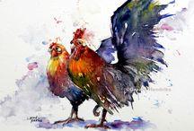 Birds / Watercolor paintings Birds