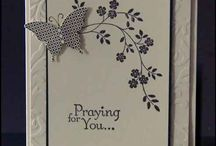 Thoughts & Prayers / This board is of cards and samples using Stampin' Up! Thoughts & Prayers stamp set.
