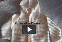 Kapşonlu bebek ceketi