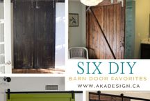 barn doors and track doors