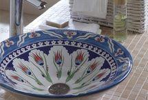 Porselen Çini Desenli Lavabolar