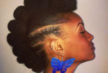 Afro Mohawk