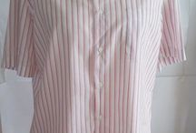 Hugo Boss mens shirt with short sleeves, striped front buttons