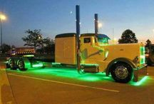 Chicken Trucks: Big Rigs With Lights, Chrome & More Lights / These chicken trucks are rockin' lots of lights and chrome, just like a chicken truck should. Never hurts to add a nice big bunk into the mix, too. / by Smart Trucking