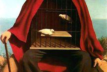 """René Magritte / """" la mente ama l'ignoto. Ama le immagini il cui significato é sconosciuto, poichè il significato della mente stessa é sconosciuto.."""""""