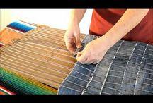 szövés-fonás-ragasztás / papír, spárga, textil