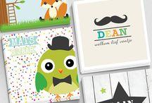 Diverse kaartjes en banners / Geboortekaartjes, trouwkaarten, verhuiskaarten, uitnodigingen, rouwkaarten en kerstkaarten. Allemaal verkrijgbaar op www.printsy.nl