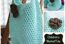 Crochet bags, pouches...
