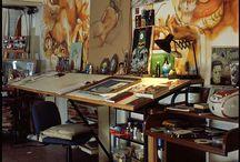 Art spaces and studios