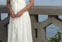 Women perfect wedding dress