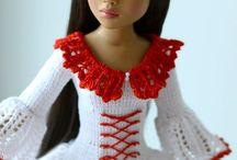 barbie,háčkování,pletení