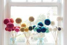 Pom Poms! / Who doesn't love a pom pom?! So colourful, cheery and fun. Find loads of pom pom crafts, tutorials, and products here.