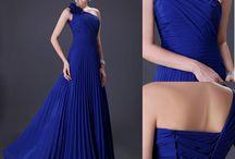 Společenské šaty - modrá