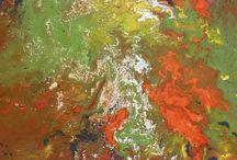 Quadri Moderni 40X40 & 30X30 / Quadri moderni dipinti a mano con la tecnica acrilico su tela. Dimensione 40 cm X 40 cm e 30 cm X 30 cm. Quadri unici. E' possibile realizzare una copia simile anche in un altro formato.