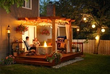 Backyard / Pergola and Backyard Hardscaping and Lighting