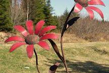 Metal petals garden