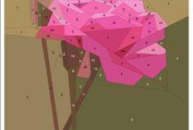 Paper piecing flowers