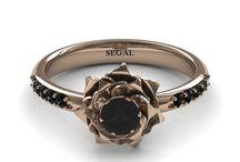 Rose Gold Engagement Ring / Rose Gold Engagement Ring