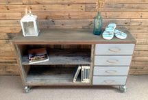 Upcycled furniture / Refurbished reloved upcycled redesigned dressers drawers and other furniture